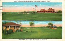1915-1930 Postcard Ingersoll Memorial Park & Sinnisippi Golf Courses Rockford IL