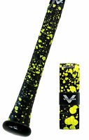 VULCAN ADVANCED POLYMER BAT GRIPS - LIGHT 1.00 MM - OPTIC YELLOW SPLATTER