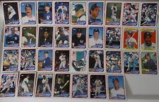 1989 Topps New York Yankees Team Set of 35 Baseball Cards