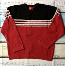 Mossimo Youth Boys LS Black Red Gray Sweater Shirt Size Small