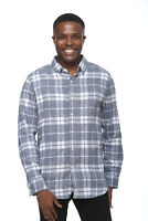 Elevani Men's Long Sleeve Regular Fit Casual Checkered White Shirt