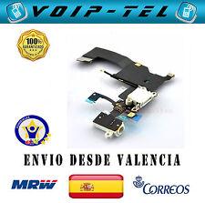 IPHONE 5 5G USB FLEX RF CABLE CARGA MICROFONO CONECTOR AURICULARES BLANCO BLANCA
