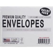A2 Envelopes 100/pkg White - Leader Paper Products Inch Pkg