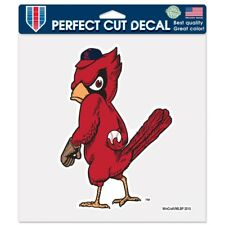 "ST. LOUIS CARDINALS BIRD COOPERSTOWN 8""X8"" COLOR DIE CUT DECAL NEW WINCRAFT"