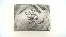 WW2 GERMAN TOBACCO BOX OF LATVIAN ELIT VOLUNTEERS ,NICE TRENCH ART