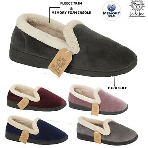 Womens Moccasin Slippers Ladies Bedroom House Indoor Winter Warm Shoes Size