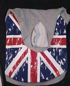Zack & Zoey Brittish Flag Hoodie Sweatshirt For Dogs Warm Sweatshirt For Dogs XL