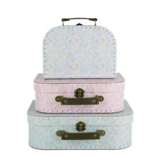 Set of 3 Grace Floral Suitcases - Storage Boxes by