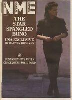 U2S BONO 0N THE COVER 0F NME NEWSPAPER 22/6/1985