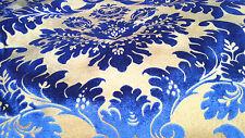 ELEGANT DESIGNER UPHOLSTERY FABRIC-Bronzing velvet/ flannelette No.9 Royal Blue