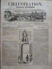 L' ILLUSTRATION 1843 N 26 STATUE DE JEAN FRANCOIS DE LAPEROUSE, AU LOUVRE