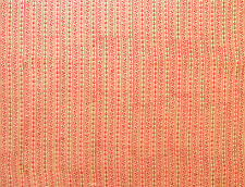2½ Yards Hand Printed Cotton. New Block Print Artisan Fabric Red Tan Dessert Art