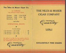 OLD NILES & MOSER CIGAR & TOBACCO CO DENVER, ADV FOLDING POSTCARD *ON SALE PC419