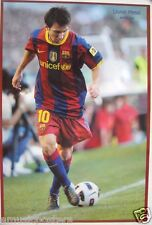 """LIONEL MESSI """"SOCCER BALL BY CROSSED FEET"""" POSTER-FC Barcelona, Argentina Soccer"""