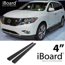 Running Board Side Step Nerf Bars 4in Black Fit Nissan Pathfinder 13-18