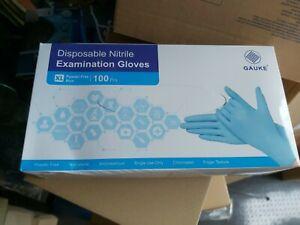 Medical Grade Disposable Nitrile blue Gloves  Powder Free - 100 Boxed XL Gauke ,