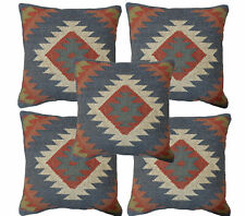 "5 Pcs Handmade Cushion Cover Rustic Wool Pillowcase 18"" Kilim Sofa Sham Cushion"