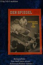 Der Spiegel 34/62 22.8.1962 Deutschlands Medizin ist krank