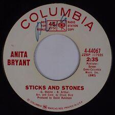 ANITA BRYANT: Sticks and Stones USA COLUMBIA DJ Promo 45 Hear