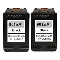 2x Black Ink Cartridge for HP 901 XL 901XL Officejet 4500 G510 J4580 J4680 J4524
