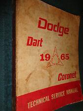 1965 DODGE DART / CORONET SHOP MANUAL / ORIGINAL SERVICE BOOK!!