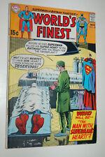 World's Finest #189 (DC, 1969) VG-F+ Superman, Batman, Luthor