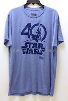 NEW Star Wars Celebration Orlando 2017 40th Anniversary Blue Logo Men's Shirt