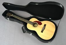 Fender CP-140SE Acoustic/Electric Parlor Guitar In Natural With Hardshell Case