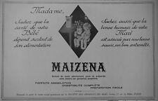 PUBLICITÉ 1928 MAIZENA POUR BÉBÉ ET POUR LES SAUCE ET ENTREMÈTS - ADVERTISING