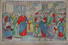 Rare Vintage Imagerie Pellerin print/L'Indulgence Commandée Par Jésus...INV2307