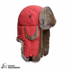 Mad Bomber Supplex Bomber Hat (XL)- Red/Brn Rabbit