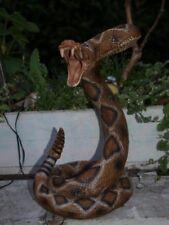 Schlange Snake Klapperschlange Deko Figur Dekoration Neu Gartendeko Flaschenhal