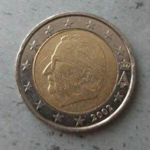 Pièce 2 Euro FAUTÉE RARE Belgique 2002