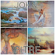 "John Pitre 4 Signed Lithograph 16/250 ""Commentary Of Mankind"" Sold in 1981 4Sale"