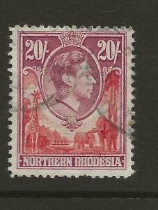 NORTHERN RHODESIA SG45 KGVI 20s High Value Fine Used Cat £80 UK P&P Free £1 WW