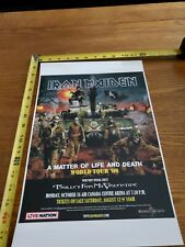 Iron Maiden Matter Of Life And Death Toronto Tour Poster