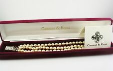 "Jackie  Kennedy Classic Triple Strand Simulated Peal Bracelet  7 1/2"""