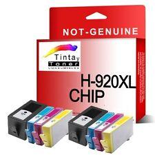 8 Tintas Non-Oem HP 920xl con chip OfficeJet 6000 6500-a 7000 7500-a e710a e710n