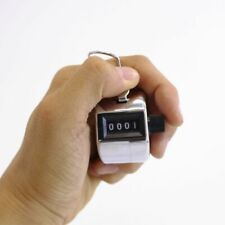 Hand Held Mechanical Chrome Counting 4 Digit Number Tally Counter Golf Clicker