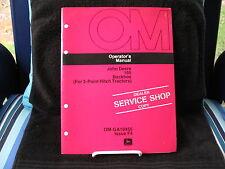 Vintage John Deere #165 Backhoe Dealership Service Shop Manual OM - GA10455