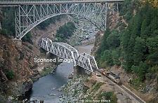 Original Photograph: UP 844/3985 doubleheader, Pulga, Feather River Canyon, CA