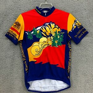 Voler Large Cycling Jersey Mens size Zip Front Gold Rush California Short Sleeve