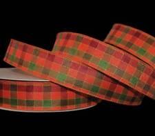 "5 Yards RARE HTF Christmas Red Green Jelly Jello Gingham Ribbon 1 1//2/""W"