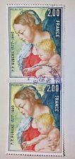 2 x Timbre France 1977 2 francs YT 1958 Rubens Oblitérés 2019