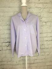 GEORGE - Purple Long Sleeve Checked Print Pyjama Top - Womens - Size 12/14