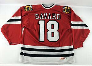 Denis Savard #18 Chicago Blackhawks CCM Maska Air-Knit Hockey Jersey Red - Mediu