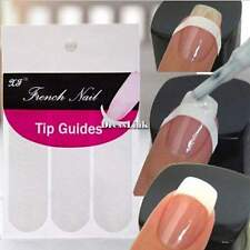6Packs DIY French Manicure Nail Art Tips Form Guide Sticker Polish Stencil DL0