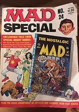 MAD 1977, SPECIAL NUMBER 24, WITH SPECIAL INSERT BONUS COMIC, HUMOR AND SATIRE