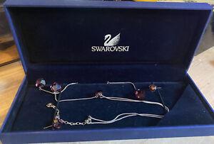 Genuine Swarovski Pink Crystal earring & necklace set