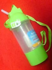 Bottle with snack holder green School Lunch